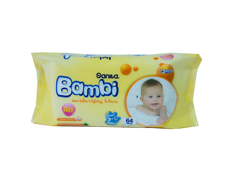 Bambi Baby Wipes With Moisturizing Lotion