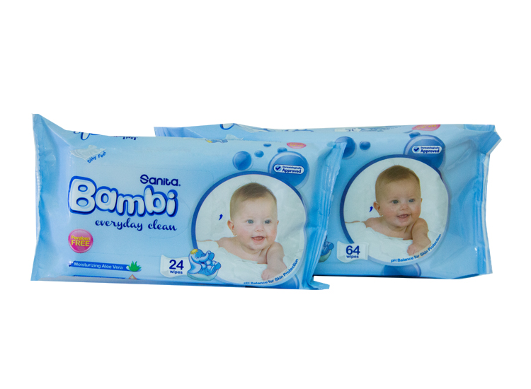 Bambi Wet Wipes, Everyday Clean