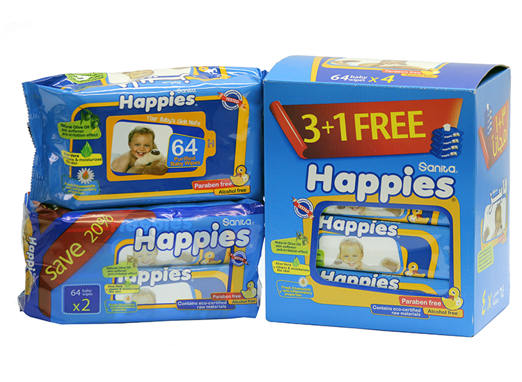 Happies Baby Wet Wipes With Lotion