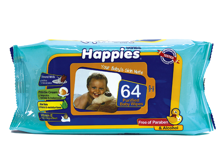Happies Baby Wet Wipes With Protective Cream